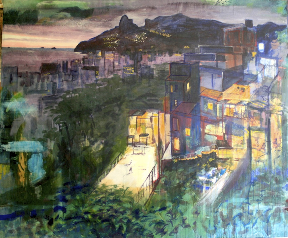 RIO, 2015, Acryl auf Baumwolle, 230 x 270 cm