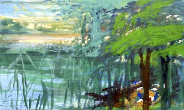 AM UFER, 2015, Acryl auf Baumwolle, 120 x 200 cm