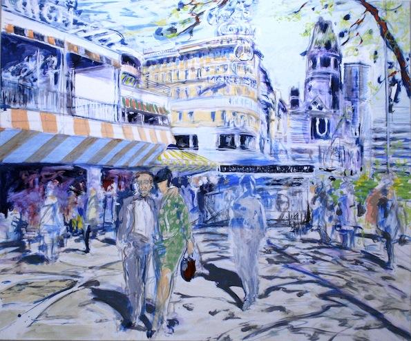 KUDAMM 1960 II, 2015, Acryl auf Baumwolle, 150 x 180 cm
