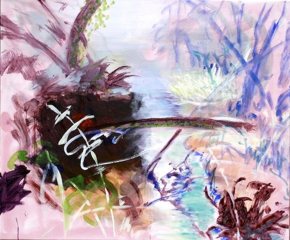 Une Idée du Paradis III, 2015, Acryl auf Baumwolle, 100 x 120 cm