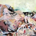 Ulrike Bolenz: Erotisches Bild, 2012, Öl, Acryl auf Holz, 80 x 103 cm
