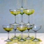 Schallenberg: Champagnerpyramide, 2012, 150 x 100 cm, Öl auf Leinwand