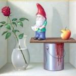 Schallenberg: Wir malen die Rosen rot, 2013, 156 x 190 cm, Öl auf Leinwand