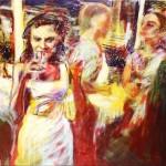 Deleau:  Skol ! (Art Basel ), 2013, Acryl auf Leinwand, 100 x 200 cm