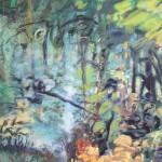 Deleau: Foret Tropical, 2012, Acryl auf Leinwand, 340 x 220 cm