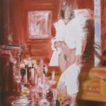 Deleau: Chambre Close  VII  4 juillet , Paris, 2011, Acryl auf Leinwand, 80 x 70 cm