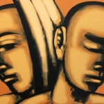Hans Hendrik Grimmling: wo ein engel ist, muss ein zweiter sein, 2014, Acryl auf Leinwand, 60 x 80 cm