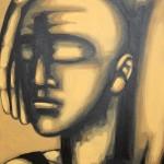 Hans Hendrik Grimmling: besinnung, 2014, Acryl auf Leinwand, 40 x 60 cm