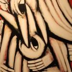 Hans Hendrik Grimmling: fortschreitende umarmung, 2015, Acryl auf Leinwand, 200 x 160 cm