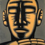 Hans Hendrik Grimmling: kopf II, 2014, Acryl auf Leinwand, 160 x 130 cm