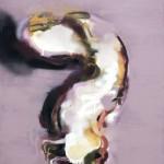 Maria Trezinski: Knorpel, 2016, Öl- und Sprühfarbe auf Leinwand, 1,00 x 0,70 m