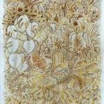 Fabian Lehnert: o.T. (AtelierPflanzen), 2016, Tusche, Silberstift auf grundiertem Papier, 32 x 24 cm