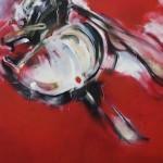 Maria Trezinski: Ruddle, 2016, Öl- und Sprühfarbe auf Leinwand, 2,00 x 2,50 m