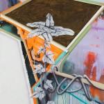 WOLFGANG ELLENRIEDER: Tablet, 2013, Pigment und Bindemittel auf Nessel, 175 x 140 cm