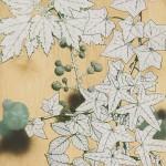 WOLFGANG ELLERIEDER: Weiße Blätter I, 2015, Pigment, Bindemittel und Öl auf Multiplex, 75 x 66 cm