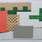 WOLFGANG ELLENRIEDER: Tableau mit Faserplatte, 2016, Öl, Pigmentdruck auf Forex, Faserplatte, 89 x 118 cm