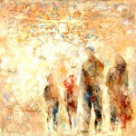 Víctor Fernández: La tierra prometida, 2016, Öl auf Leinwand, 100 x 100 cm