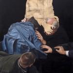 Clement Loisel: Diplomacy, 2017, Öl auf Leinwand, 150 x 100 cm
