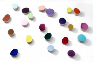 Willi Siber: Wandobjekte, Multiplex, Chromlack, ca. 23 - 35 x 10 cm, 2016