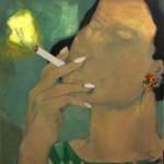 Cristina Canale, Party girl 2017, Mischtechnik auf Leinwand, 110 x 100 cm