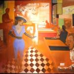 Reinhard Stangl, Endstation Sohn sucht 2016, Öl auf Leinwand 115 x 145 cm