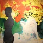 Reinhard Stangl, Modell fall 2011, Öl auf Leinwand, 115 x 145 cm