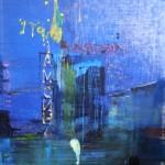 Reinhard Stangl, Agora 2005, Öl auf Leinwand,145 x 115 cm