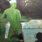Reinhard Stangl, Cuba si 2001, Öl auf Leinwand, 145 x 115 cm