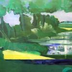 Reinhard Stangl, Mark 1996, Öl auf Leinwand, 115 x 145 cm