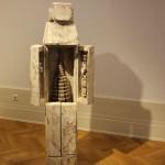 Klaus Hack, Altar-Figur, 2012/2017, Eichenholz, weiß gefasst