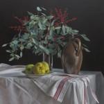 Till Warwas, Quitten und Eukalyptus, 2017, 80 x 90 cm