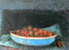 Ioan Iacob, Blaue Schale, 2017, 120 x 100 cm