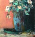 Ioan Iacob, Blaue Vase, 2017, 130 x 100 cm