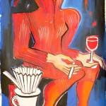 Elvira Bach, Kaffeefilter, 140 x 100 cm