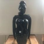 Elvira Bach, Schwarze Glasskulptur, 2016/17