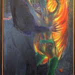 Clemens Gröszer, Feuer und Flamme, 1990, 215 x 98 cm