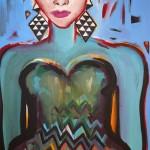 Elvira Bach, Lebe das Leben, 2014, 165 x 130 cm