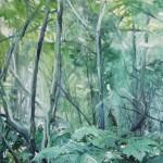 Helge Hommes, Morgenland - ... kommst Du mit in den Wald, 2015, 40 x 50 cm
