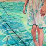 Sabine Dehnel, Sommerregen, 2018, 150 x 150 cm