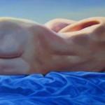 Christine Reinckens, Früher Mond, 2016, 50 x 190 cm