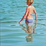 Christine Reinckens, Wasserwärts II, 2016, 100 x 80 cm
