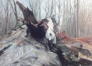 Helge Hommes, Der Hochnarr, 2017,  180 x 250 cm