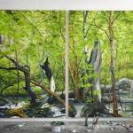 Helge Hommes, Caper schon wieder ohne Kompass im Morgenland, 2015, 280 x 450 cm