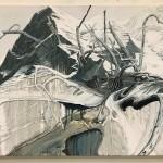 Helge Hommes, Eiger, 2018, 90 x 135 cm