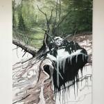 Helge Hommes, Mont Blanc, 2018, 180 x 130 cm
