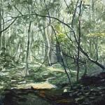 Helge Hommes, Kommst du mit in den Wald, 2015, 40 x 50 cm