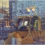 JÜRGEN DURNER, Beben, Öl auf Leinwand, 130x180 cm, 2018