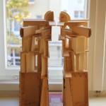 Fredder Wanoth, Die hermetische Schweiz, Karton, Schokoladenpapier, 49 x 33 x 32 cm, 2008