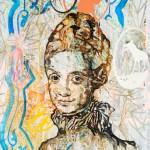 Kristina Girke, Weberin der Illusion, 2011, Öl auf Leinwand, 240 x 180 cm