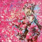 Kristina Girke, Zwischen Zeit und Ewigkeit, 2013, Öl und Lack auf Leinwand, 150 x 150 cm